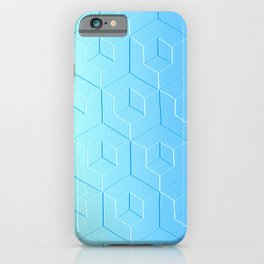 Silver to Blue Gradient iPhone Case