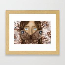 BUTTERFLY FACE Framed Art Print