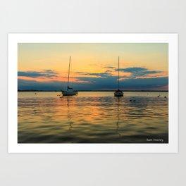 (Sailboats) At Bay Art Print