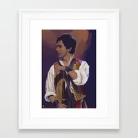 enjolras Framed Art Prints featuring Enjolras by Miki Price