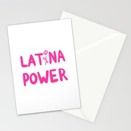 Latina Power Stationery Cards