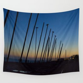 Boats in The Night Wall Tapestry