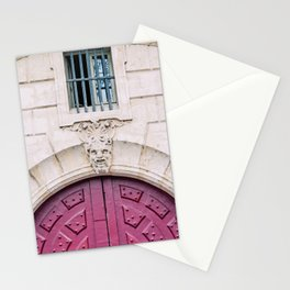 Charming Red Parisian Door Stationery Cards