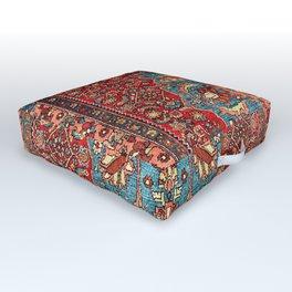 Bidjar Antique Kurdish Northwest Persian Rug Print Outdoor Floor Cushion