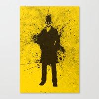 watchmen Canvas Prints featuring WATCHMEN - RORSCHACH (YELLOW EDITION) by Zorio