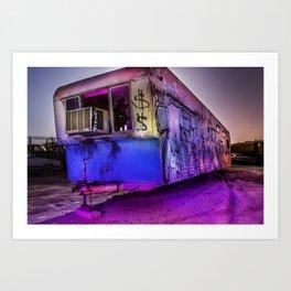 Light Painted Mobile Home Art Print