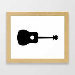 Acoustic Guitar Silhouette Framed Art Print