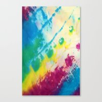 tie dye Canvas Prints featuring Tie Dye by Kait & Court