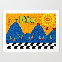 Rio City Art Print