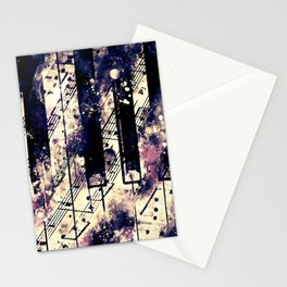 piano keys and music sheet pattern wsfn Stationery Cards