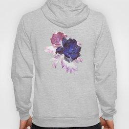big blue floral Hoody