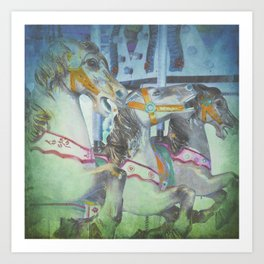 Carousel Dreams Art Print