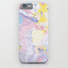 Colorful paper marble swirls iPhone Case
