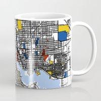 baltimore Mugs featuring Baltimore  by Mondrian Maps