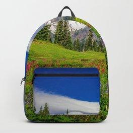 Mt Rainier and Wildflowers Backpack