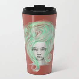 Green wig Metal Travel Mug
