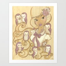 The Owl Mistress Art Print