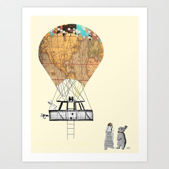 Adventure days  Art Print