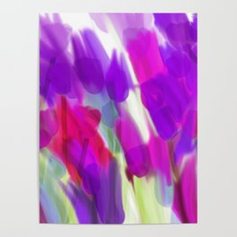Meadow Flowers Abstract 2 Poster