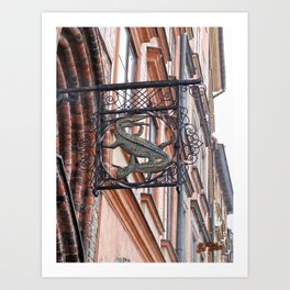 Crocodile Art Print