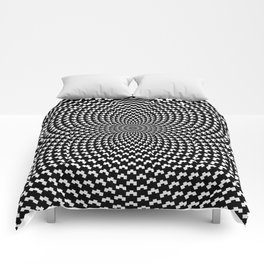 Illusion of Choice Hypnotic Pattern Comforters