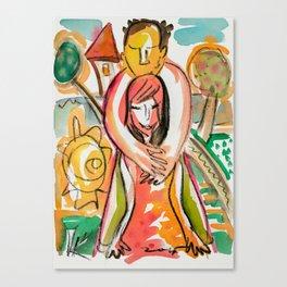 Hug - Naive Canvas Print