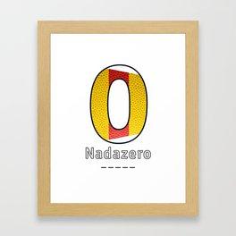 Nadazero - Navy Code Framed Art Print