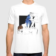 threesome White LARGE Mens Fitted Tee