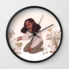 Flowers for all my rooms Wall Clock