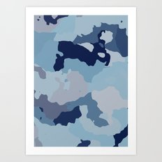 Indigo Blues Art Print