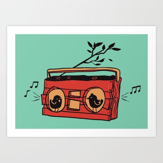 Nature's boombox Art Print