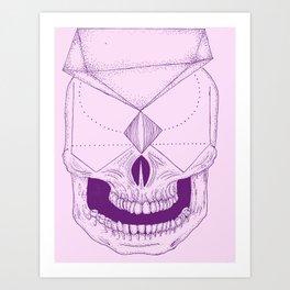 Abstract Skull 4 Art Print