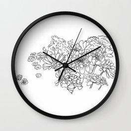 Bouquet (fraction) Wall Clock