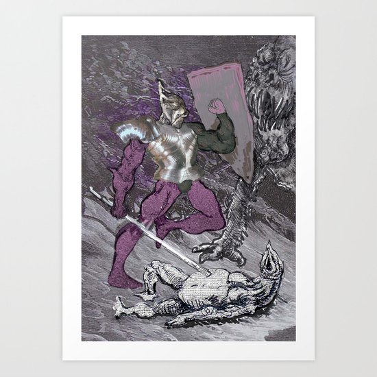 ''Why me?!'',cried the poor monster Art Print