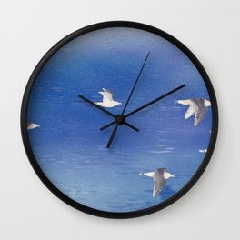 Black-tailed Gull | Miharu Shirahata Wall Clock