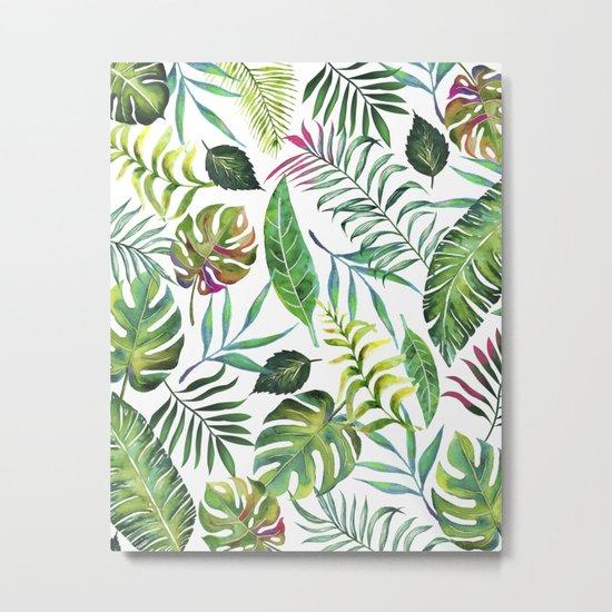 Tropical Flora #society6 #decor #buyart Metal Print