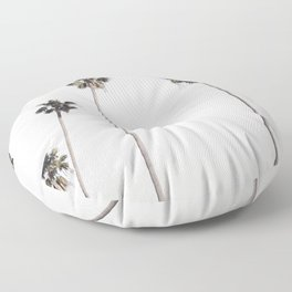 Row of palm trees Floor Pillow