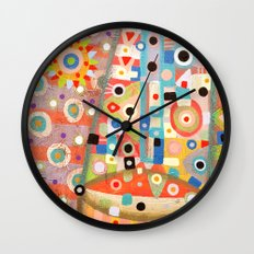 Girl with the flower in hair Wall Clock