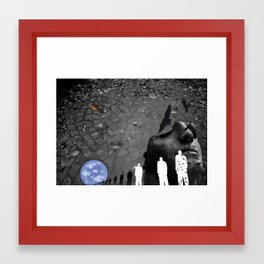 The march of my own self. Framed Art Print