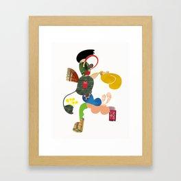 A Running Fella Framed Art Print