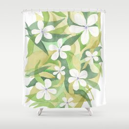 Granny's white flowers Shower Curtain