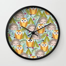 Hoot Tribe Wall Clock