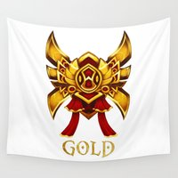 league Wall Tapestries featuring League of Legends Gold Tier by Big Little POP World