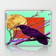 Surreal Purple-green  Mystic Moon Crow/Raven Moon Abstract Laptop & iPad Skin