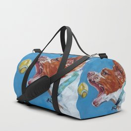 Brittany Spaniel Dog Portrait Duffle Bag