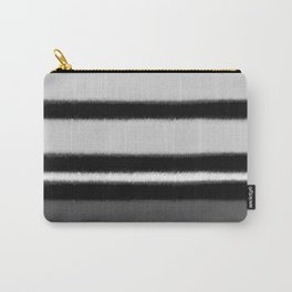 black white gray stripes Carry-All Pouch