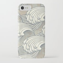 Ocean Waves Pattern Ancient Japan Art iPhone Case