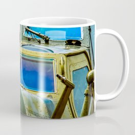 Armored Cockpit And A Front Radar Of A Modern Military Attack Helicopter Coffee Mug