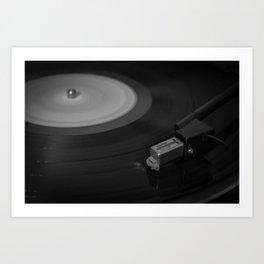 Vinyl Spins Art Print