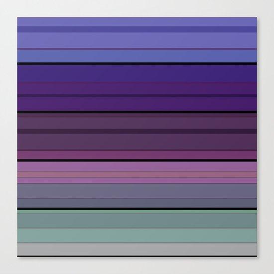 Black blue purple pattern striped . Canvas Print